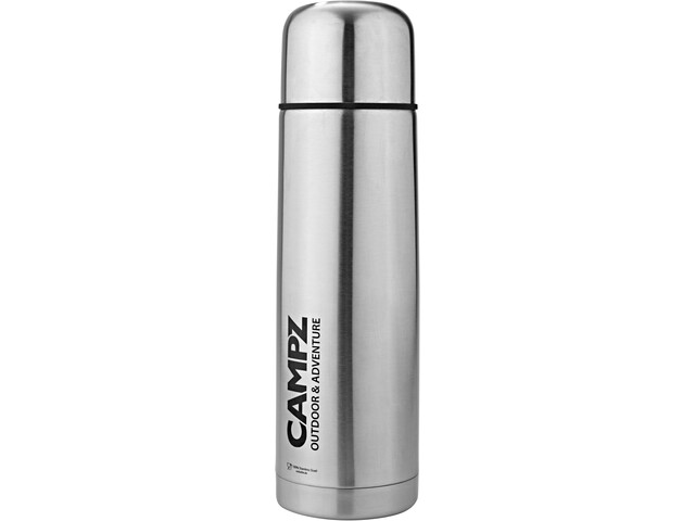CAMPZ Stainless Steel Insulated Bottle 1000ml, silver